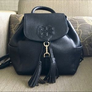 Tory Burch Black Leather Thea Mini Backpack